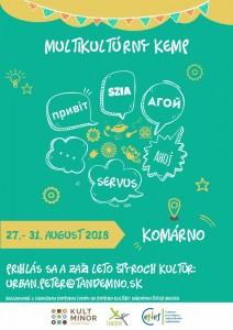 Letný kemp národnostných menšín, Kravany nad Dunajom, 27. - 31.08.2018