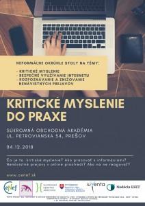 Okrúhle stoly SOA Prešov 04.12.2018