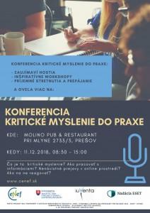 Konferencia Kritické myslenie do praxe 11.12.2018